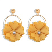 Korea all-Purpose flowers diamond earrings woman fresh sweet Cloth Earring