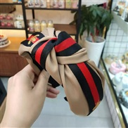 ( khaki+ Black )occidental style wind samll eadband pure color Cloth width eadband lady