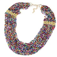 occidental style trend noble wind Bohemia multilayer beads necklace