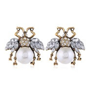 occidental style  Metal concise fashion temperament exaggerating ear stud