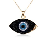 ( black)occidental style personality eyes pendant necklace imitate natural resin necklace Earring