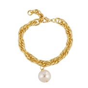occidental style wind chain bracelet all-Purpose fashion chain buckle circle