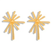 ( yellow) exaggerating creative Alloy earrings woman brief personality Earring