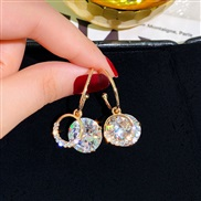 ( Silver needle )silver ear stud woman Korea temperament drop zircon super earrings brief arring woman