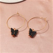 (EZheise) occidental style  fashion fashion color Acrylic butterfly earrings personality butterfly buckle woman