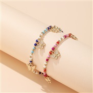 color beads Anklet oc...