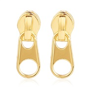occidental style exaggerating creative personality gold zipper earrings retro earring arring