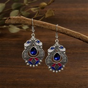 (  sapphire blue )creative color enamel palace wind earrings woman   personality