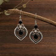 (  black)  Chinese style drop fully-jewelled personality earring  fashion temperament earrings