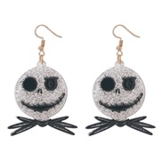 ( black) earrings  occidental style personality head arring day exaggerating ear stud