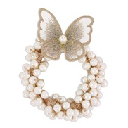 (Pearl )ins wind  temperament woman Pearl butterfly circle style bracelet