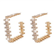 ( Gold)ins wind earrings woman  creative exaggerating geometry square earring samll arring