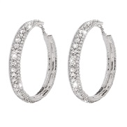 ( White K)occidental style wind brief big circle woman  fully-jewelled geometry arring exaggerating retro high earrings