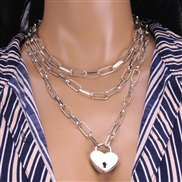 ( necklace)Alloy necklace womanins wind  fashion samll clavicle chain temperament multilayer necklace