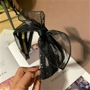 ( Set in drill  black)Korean style brief eadband width Colorful Rhinestone eadband bow head woman