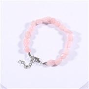 ( Pink Bracelet)gravel bracelet  crystal handmade fashion bangle color gravel