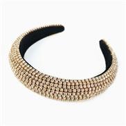 ( Gold) Korea fully-jewelled eadband occidental style eadband Rhinestone Korean style fashion brilliant woman