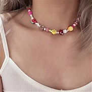 Pearl chain necklace flowers fruits rainbow lovely creative handmade production