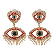( red) new exaggerating atmospheric eyes ear stud  occidental style original all-Purpose earrings woman