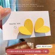 ( yellow)silver spring summer small fresh color geometry earrings color heart-shaped ear stud woman samll Earring
