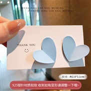 ( blue)silver spring summer small fresh color geometry earrings color heart-shaped ear stud woman samll arring