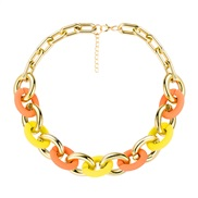 ( Color)occidental style  fashion personality Colorful candy colors necklace woman  occidental style wind