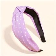 (purple)Stripe eadband retro Korea temperament all-Purpose head