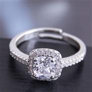 fine  Korean style fashion sweetOL brief embed Zirconium personality temperament woman ring