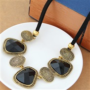 occidental style fashion  gold concise geometry accessories exaggerating necklace