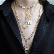 ( Gold necklace)occid...