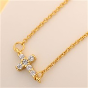 XL0283 fine  Korean style fashion sweetOL flash diamond cross personality woman necklace