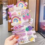 (  color ) Korean style fruits set children hair clip woman head