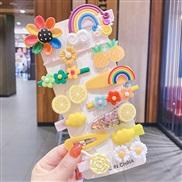 Korean style fruits set children hair clip woman head