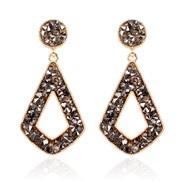 (   )occidental style Alloy geometry earrings earring  fashion personality diamond earring woman F