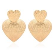 ( Gold)occidental style Alloy geometry love earring   brief fashion women temperament earrings  F