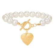 (A    )occidental style Pearl necklace  creative retro brief women love pendant necklace set