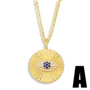 (A) fashionns wind eyes pendant girl student necklace clavicle chainnku