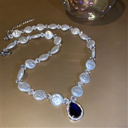 ( blue necklace)Irreg...