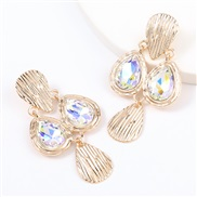 (AB color)earrings spring multilayer drop Alloy diamond geometry earrings woman occidental style retro arring
