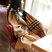 occidental style same style classic grid Double surface pocket shawl scarf  scarf super warm imitate sheep velvet scar