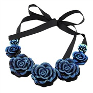 European and American fashion temperament short paragraph BLUELOVER roses ribbon collar necklace