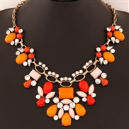 European and American fashion personality and temperament short metal luxury jewel necklace