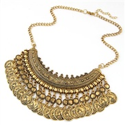 European and American fashion trend wild metal coin coin necklace temperament