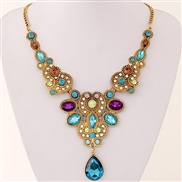 European and American fashion big metal trade exaggerated drop necklace