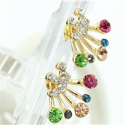 Korea brilliant diamond bow earrings Crown