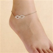 Europe and extreme simplicity summer wild paragraph luck diamond anklets word