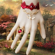 Retro girl red lace C...