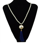 Large European and American fashion simple pearl necklace long sweater chain