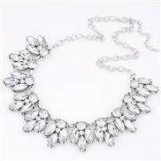 European and American fashion big bright gemstone collar necklace