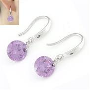 Korean fashion sweet personality shine Zircon Earrings